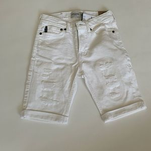 Abercrombie & Fitch Denim white shorts